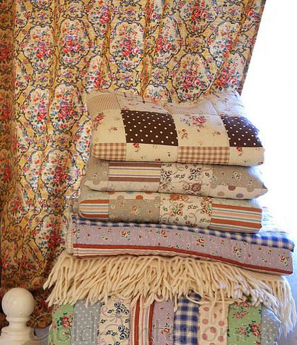Текстиль в кантри стиле