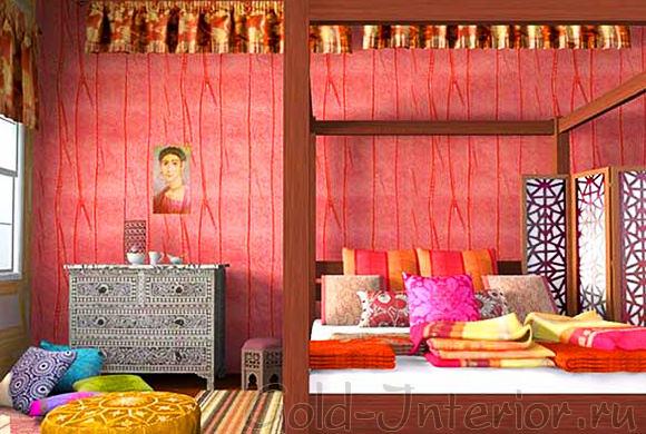 Ткани, оттенки и орнаменты в марокканском стиле