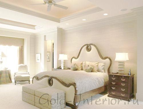 Простая и изысканная спальня в белом цвете