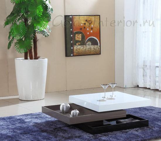 Трёхярусный квадратный складной стол