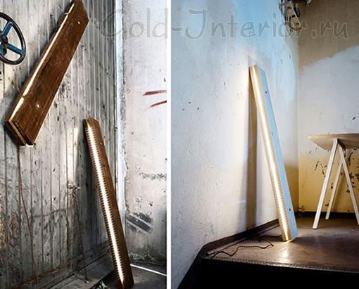 Три вида светильников: потолочный, напольный, настенный