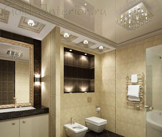 Тройное освещение в декоре туалета