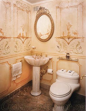 Туалет в стиле рококо