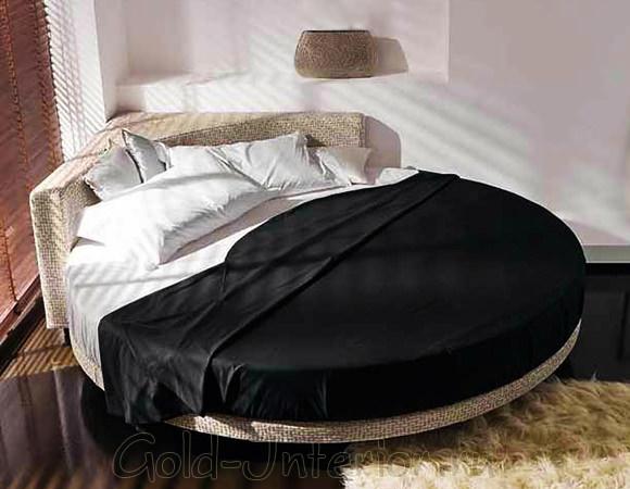 Угловое изголовье кровати круглой формы