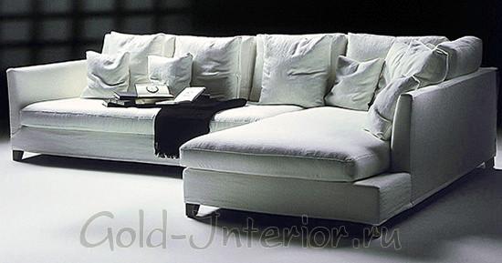 Угловой диван из двух блоков