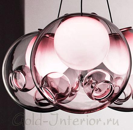 Уникальные люстры из дутого стекла