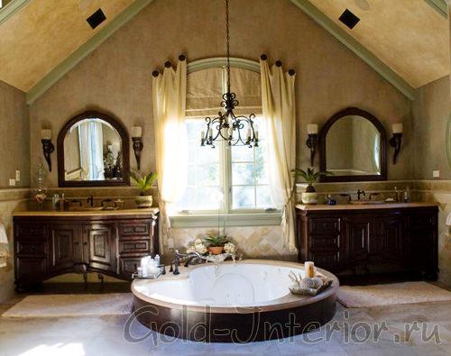 Необычная ванная комната в английском жанре