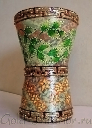 """Широкая ваза - """"греческие мотивы"""""""