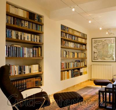 Встроенные системы хранения идеальны для маленьких гостиных