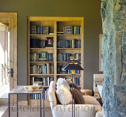 Встроенный компактный книжный шкаф