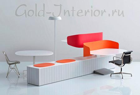 Яркая офисная мебель
