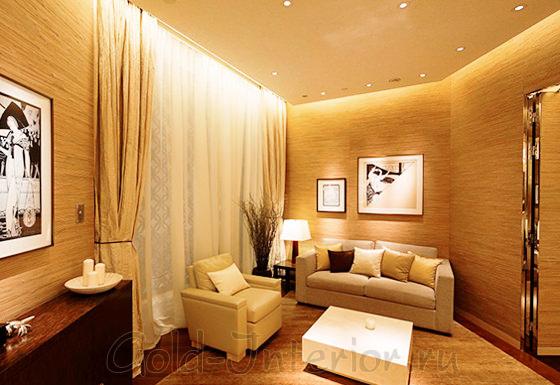 Яркие светодиоды в оформлении гостиной