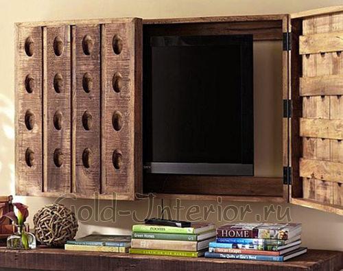 Замаскированный телевизор в шкафчике