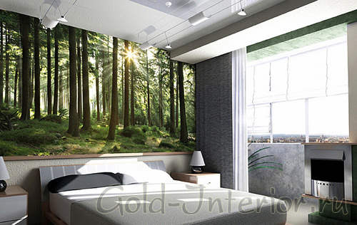 Фотообои для спальни - Зелёная природа