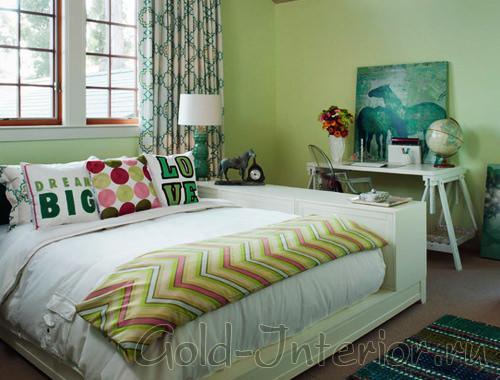 Зелёная спальня