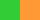Зелёный с оранжевым