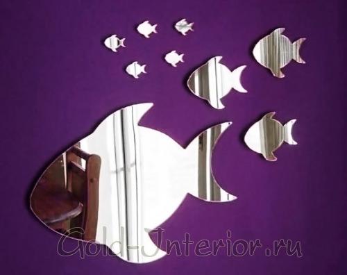 Зеркала в виде рыбок разных размеров