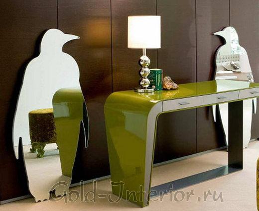 Фигурное зеркало - пингвин